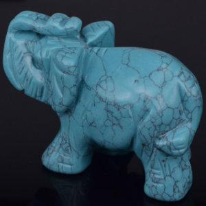 Turquoise Aventurine Elephant Figurine