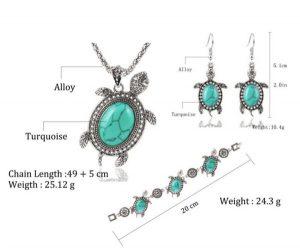 Turquoise Turtle 3 Piece Jewelry Set