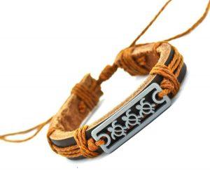 Sea Turtle Charm Genuine Leather Bracelet Cuff