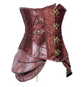 Satin Steampunk Corset Top