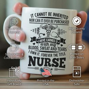 """Forever The Title Nurse"" Mug"