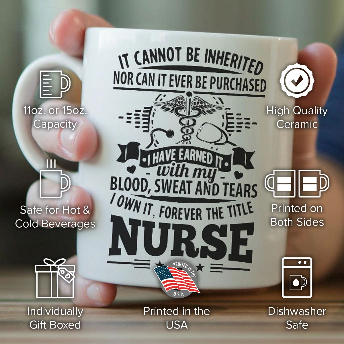 """Forever The Title Nurse"" Mug"