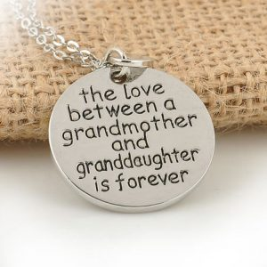The Love Between A Grandmother And A Granddaughter Is Forever Pendant Necklace