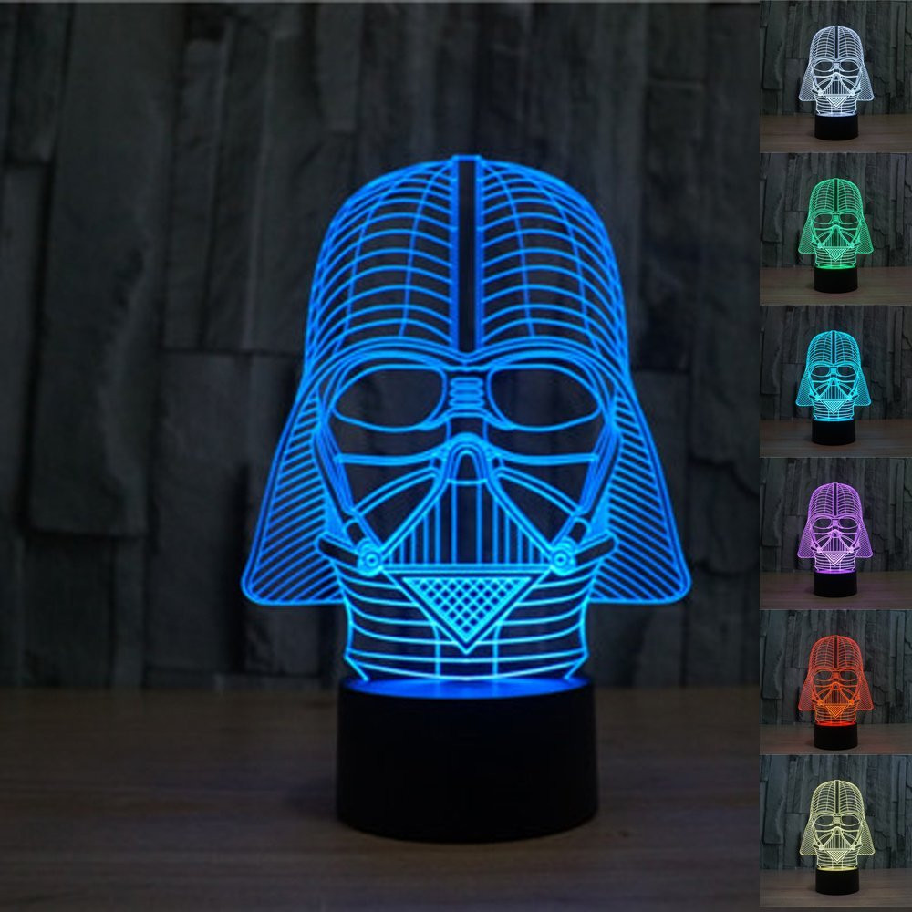 ★ FREE Shipping ★ 3D Vader Inspired LED Lamp