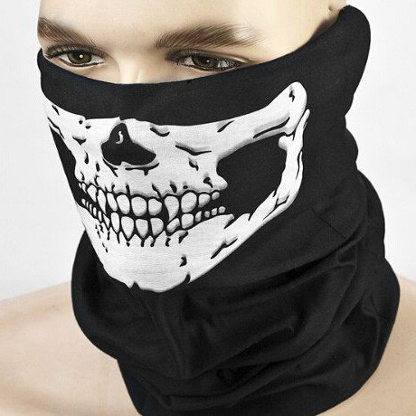 ★ FREE ★ Biker Gear: Skull Face Riding Mask - Biker Balaclava Mask