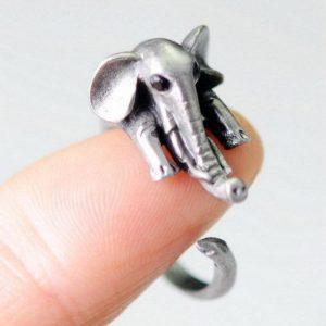 Adjustable Cute Elephant Ring