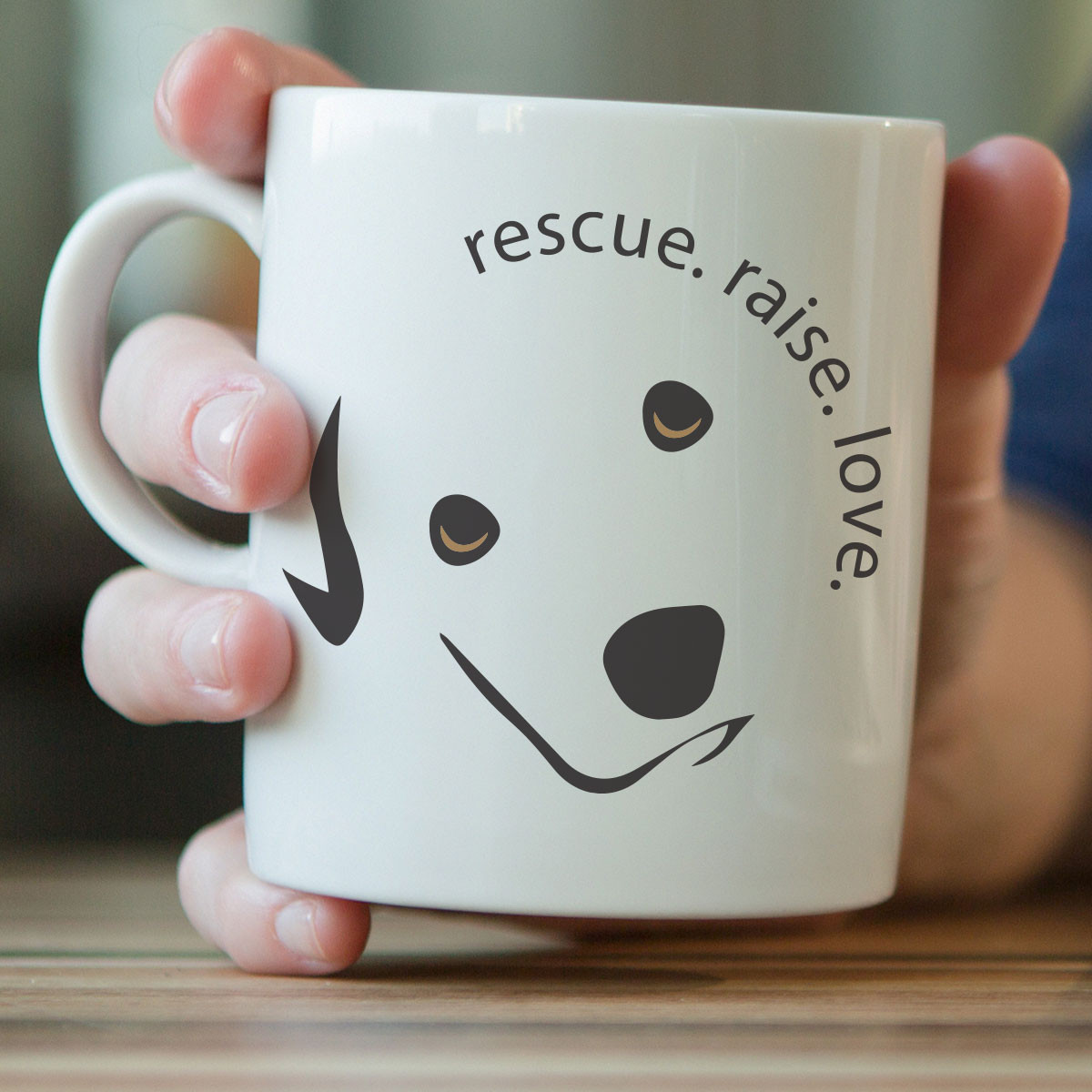 Rescue Raise Love Mug