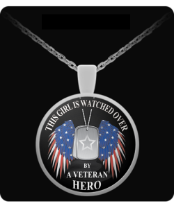 This Girl is Watched Over By a Veteran Hero - Necklace