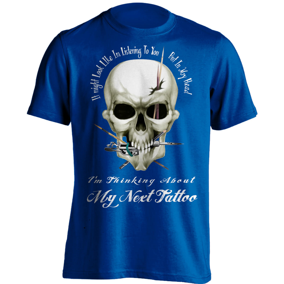 """I Might Look Like Im Listening To You"" Tattoo Lovers T-Shirt"