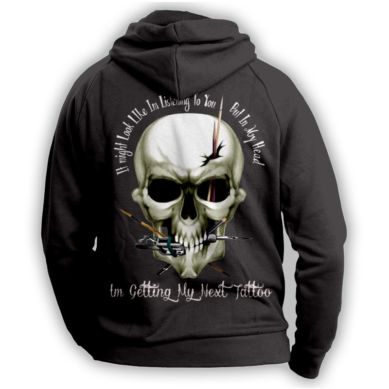"''I Might Look Like Im Listening To You"" Tattoo Lovers Hoodie"