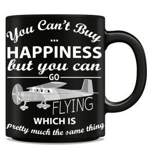"""You Can't Buy Happiness"" Flying Mug"