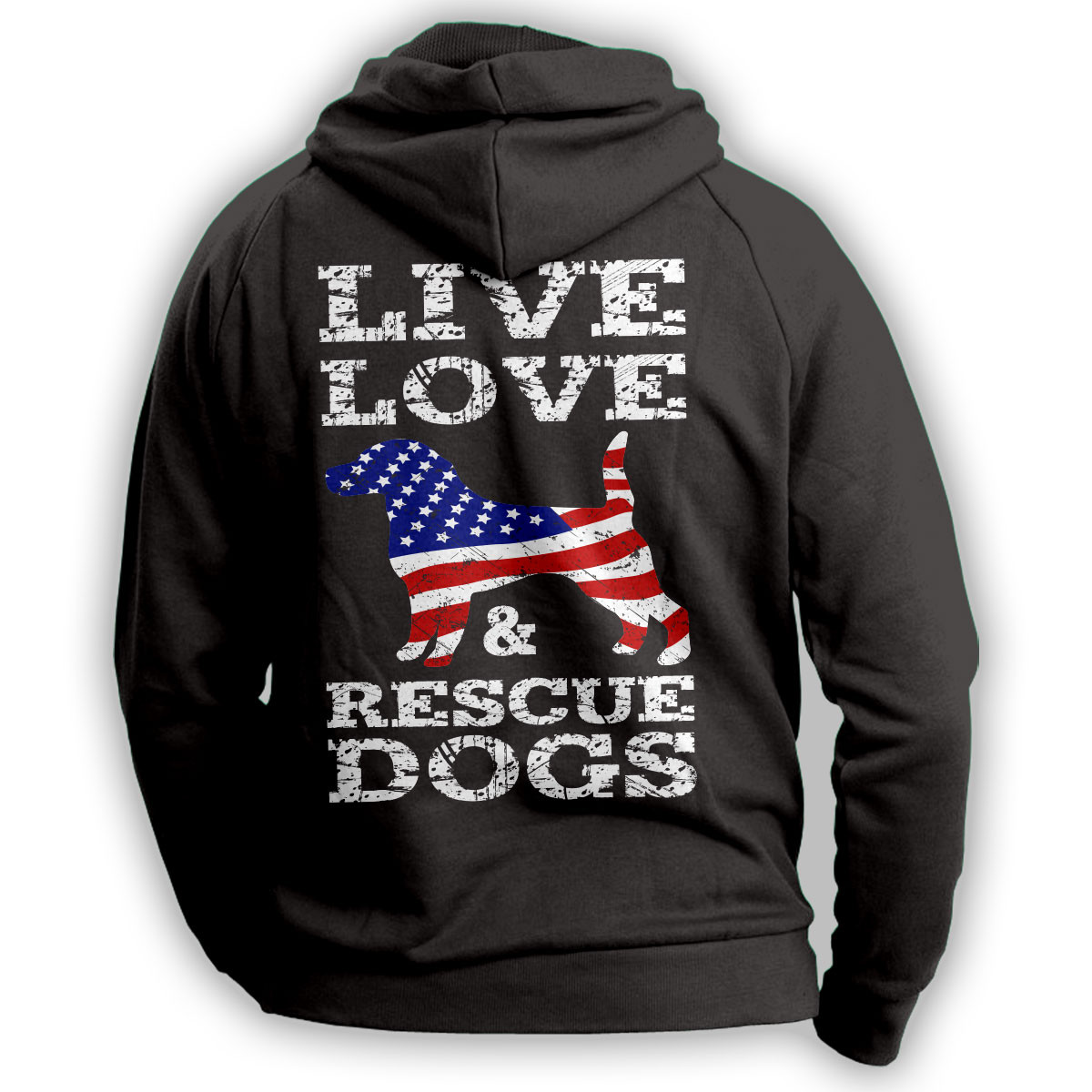 Live Love And Rescue Dogs Hoodie