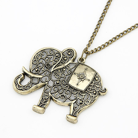 Retro Elephant Necklace