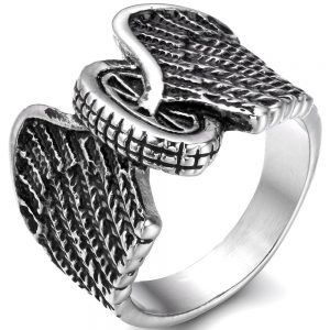 Eagle Wings And Motorcycle Tire Ring