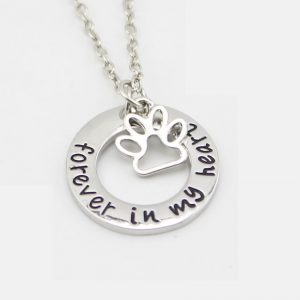"""Forever In My Heart"" Pet Memorial Necklace"