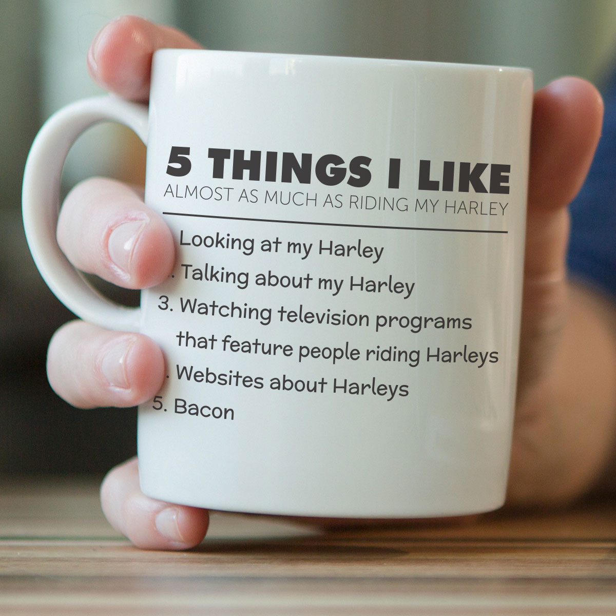 5 Things I Like Almost As Much As Riding My Harley Mug