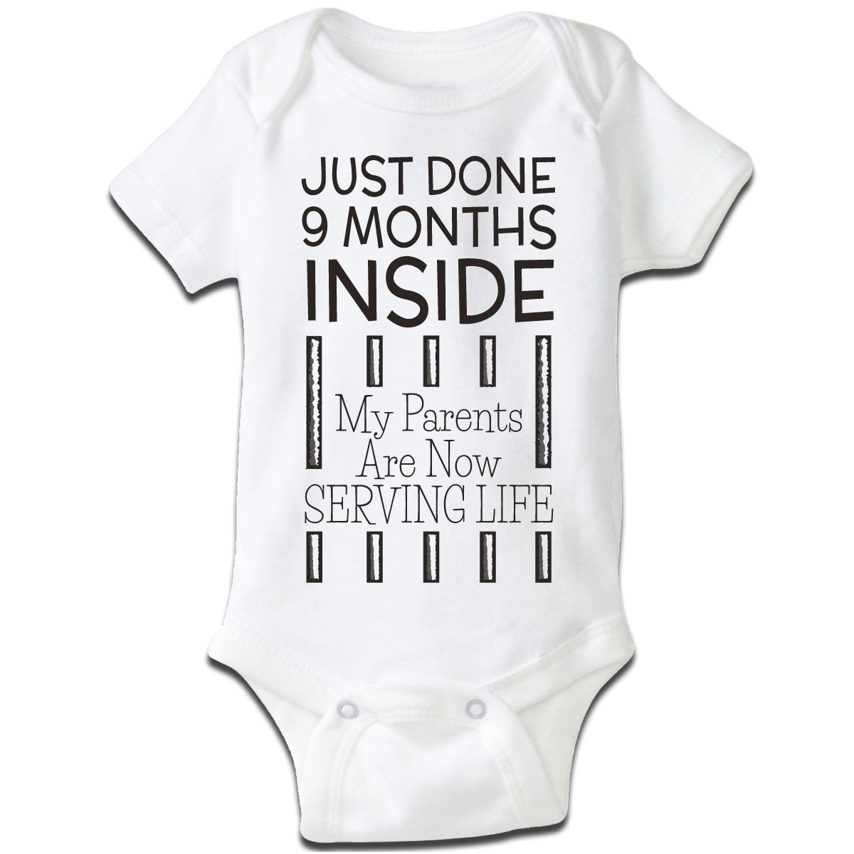 """""""Just Done 9 Months Inside..."""" Baby Grow"""