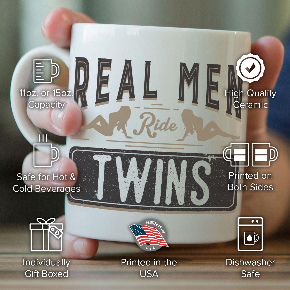 Real Men Ride Twins Mug