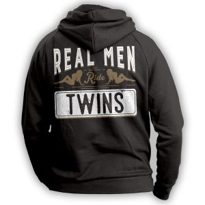 Real Men Ride Twins Hoodie