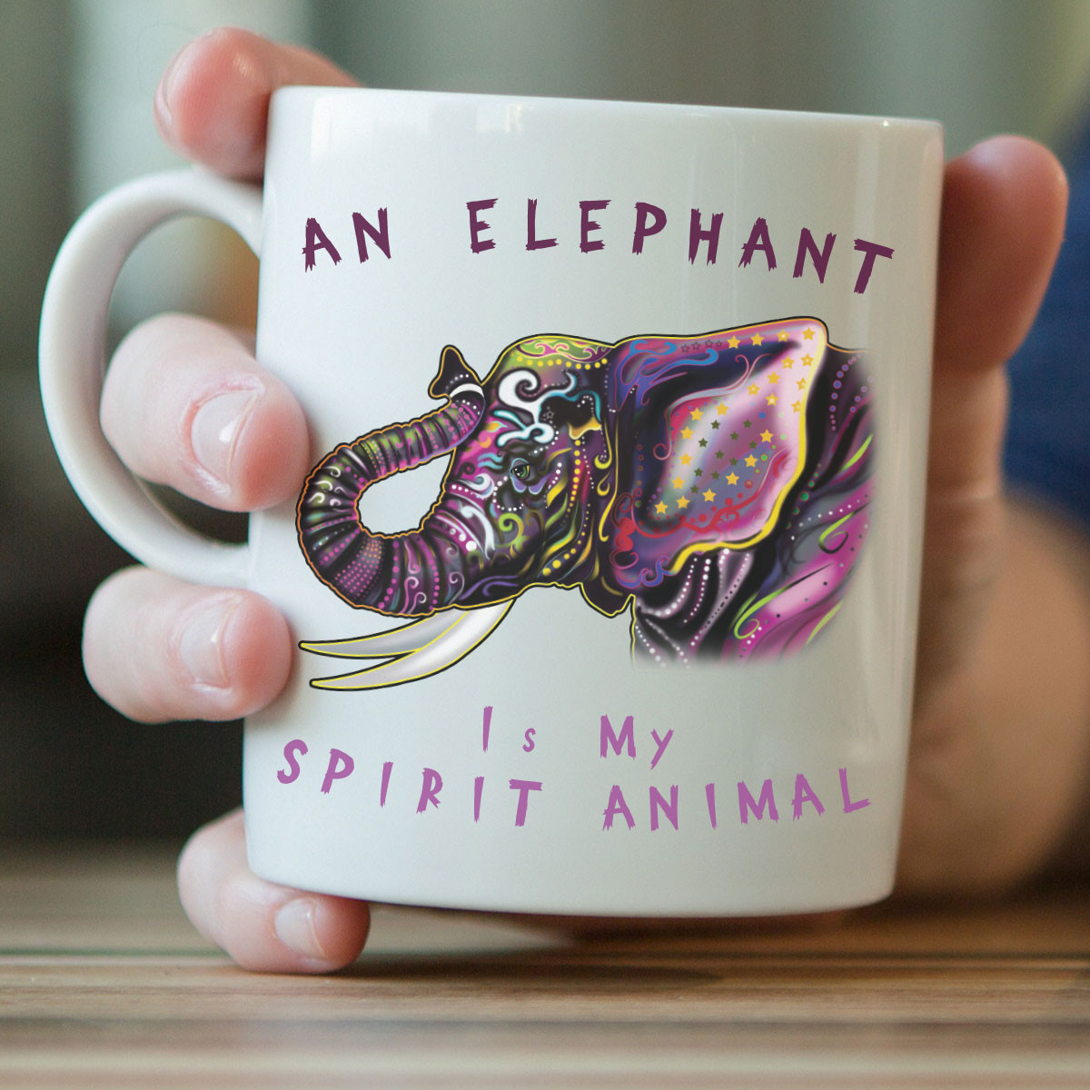 """An Elephant Is My Spirit Animal"" Mug"