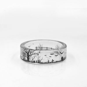 Transparent Punk Bat Ring **SHIPS FREE**