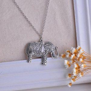 Alloy Elephant Necklace