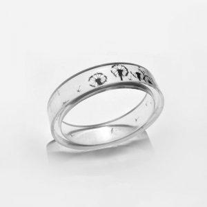 Transparent Dandelion Wish Ring **SHIPS FREE**