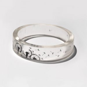 Transparent Dandelion Wish Ring **SHIPS FREE**