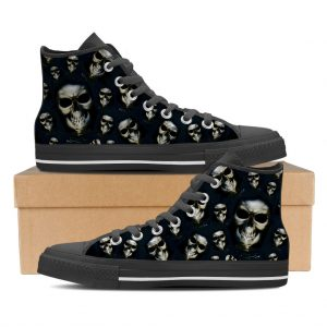 Womans High Top Skull Shoe