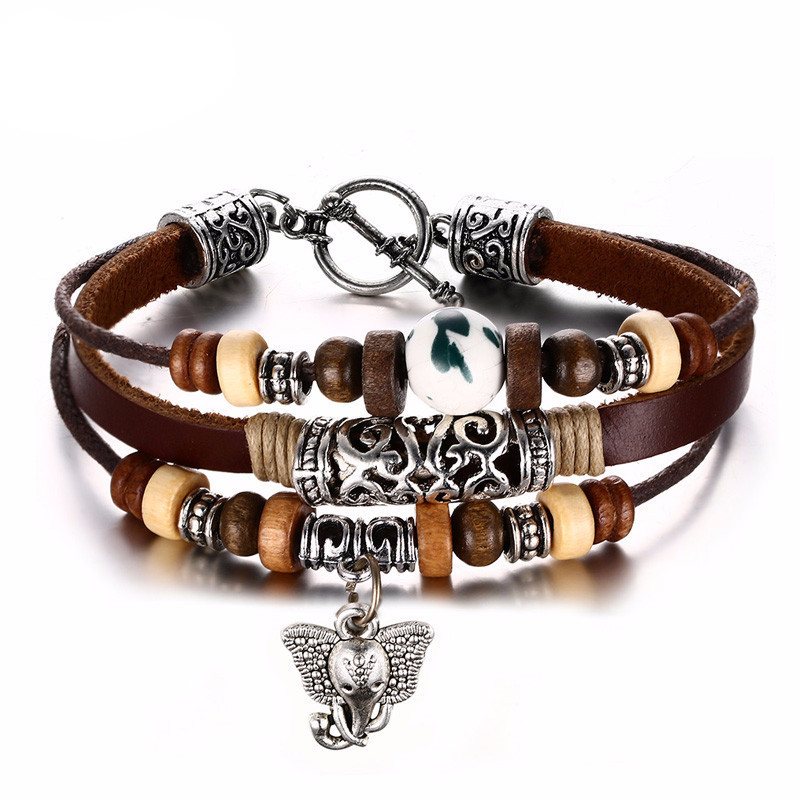 bead dp amazon for owl rock elephant a leopard men toys lava matte games pcs set lylymimi stone bracelets jewelry lion com bracelet